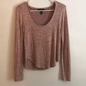 Light pink sweater shirt